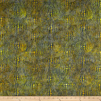 Banyan Batiks Visual Sounds Dot Stripe Yellow