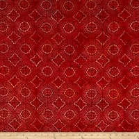 Banyan Batiks Sophie Tile Print Red/Yellow