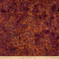 Banyan Batiks Shattered Garden Tossed Mums Orange/Purple