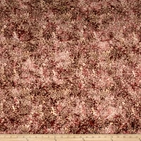 Banyan Batiks Shattered Garden Packed Mums White/Burgandy