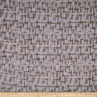 Banyan Batiks Nostalgic Vibes Spaced Check White/Brown