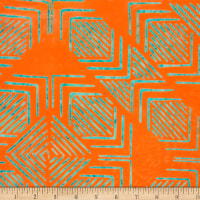 Northcott Banyan Batiks Tie One On Orange Teal
