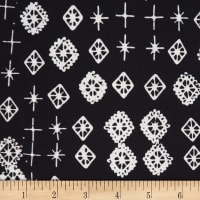 Northcott Banyan Batiks Tie One On Black and White