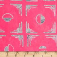 Northcott Banyan Batiks Tie One On Fuchsia/Grey