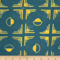 Northcott Banyan Batiks Tie One On Dark Teal/Yellow
