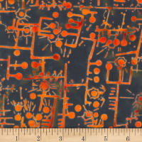 Banyan Batiks Codes And Circuits Orange Blue