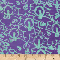 Banyan Batiks Codes And Circuits Teal Purple