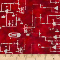 Banyan Batiks Codes And Circuits Red