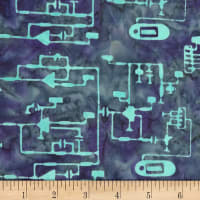 Banyan Batiks Codes And Circuits Teal