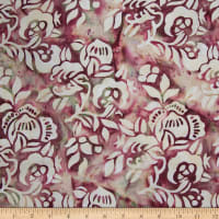 Northcott Banyan Batiks African Violets Taupe Flowers