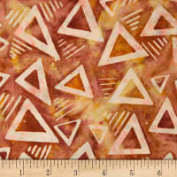 Northcott Banyan Batiks Rock City Red Orange Triangles