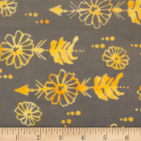 Northcott Banyan Batiks Daisy Chain Dark Grey