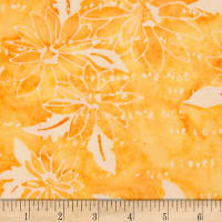 Northcott Banyan Batiks Daisy Chain Orange Print