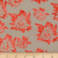 Northcott Banyan Batiks Daisy Chain Red