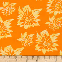 Northcott Banyan Batiks Daisy Chain Orange