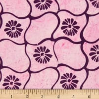 Northcott Banyan Batiks Daisy Chain Purple