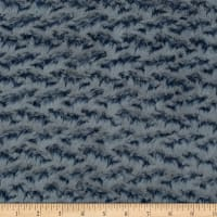 Shannon Minky Luxe Cuddle Ridge Navy