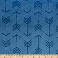 Shannon Minky Embossed Arrow Cuddle Bluebell
