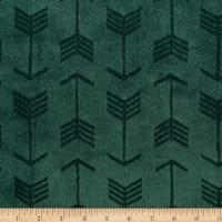Shannon Minky Cuddle Embossed Arrow Evergreen