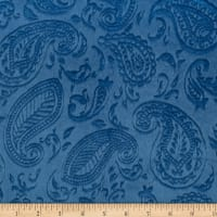 Shannon Minky Paisley Vine Embossed Cuddle Bluebell