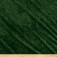 Shannon Minky Paisley Vine Embossed Cuddle Evergreen
