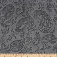 Shannon Minky Paisley Vine Embossed Cuddle Graphite