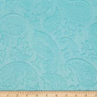 Shannon Minky Paisley Vine Embossed Cuddle Saltwater