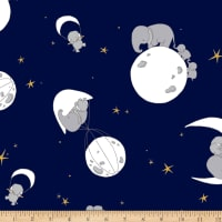 Shannon Sweet Melody Designs Minky Cuddle Mr. Sandman Navy
