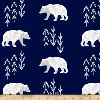Shannon Premier Prints Minky Bearfoot Cuddle Navy