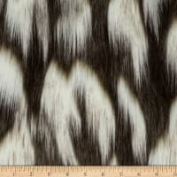 Shannon Faux Fur Tibetan Fox Ivory/Chocolate