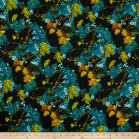 Art Gallery Virtuosa Cinese Mystery Rayon Challis Black
