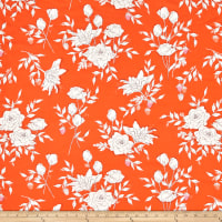 Art Gallery Sonata Pastoral Crescendo Rayon Challis Orange