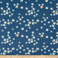 Art Gallery Hazy Daisies Marine Jersey Knit Dark Blue