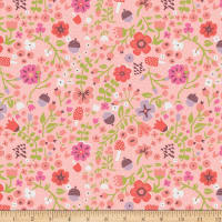 Riley Blake Little Red in the Woods Floral Pink