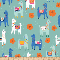 Riley Blake Llamas Novelty Mint