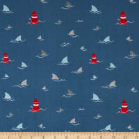 Riley Blake Novelty of the Month Fins Navy