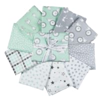 Kaufman Penned Pals Fat Quarter Bundles 8 Pcs Mint