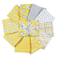 Kaufman Penned Pals Fat Quarter Bundles 8 Pcs Yellow