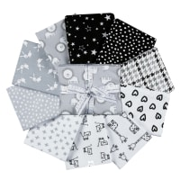 Kaufman Penned Pals Fat Quarter Bundles 10 Pcs Shadow