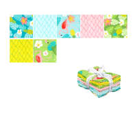 Kaufman Flamingo Paradise Fat Quarter Bundles 7 Pcs Multi