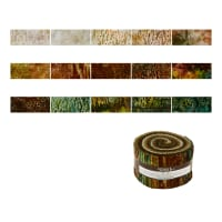 "Kaufman Natures Textures Batiks 2.5"" Roll Up 40 Pcs Earth"