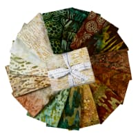Kaufman Artisian Batiks: Natures Textures Fat Quarter Bundles 15 Pcs Earth
