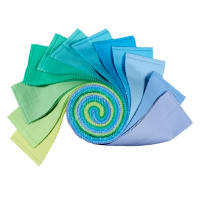 "Kona Cotton 2.5"" Half Rolls 24 Pcs Mermaid Shores"
