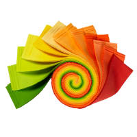"Kaufman Kona Cotton 2.5"" Roll Ups 40 Pcs Citrus Fruit"