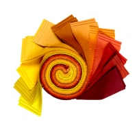 "Kona Cotton 2.5"" Roll Ups 40 Pcs Autumn Hues"