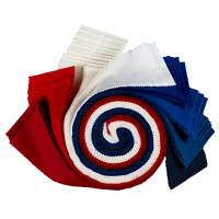 "Kona Cotton 2.5"" Roll Ups 40 Pcs Patriotic"