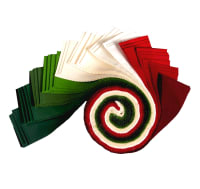 "Kona Cotton 2.5"" Roll Ups 40 Pcs Holiday"