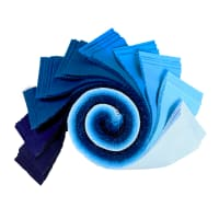 "Kaufman Kona Cotton 2.5"" Roll Ups 40 Pcs Waterfall"
