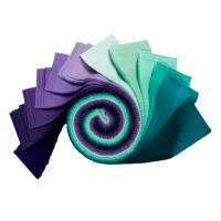 "Kaufman Kona Cotton 2.5"" Roll Ups 40 Pcs Aurora"
