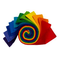 "Kona Cotton 2.5"" Roll Ups 40 Pcs Bright Rainbow"